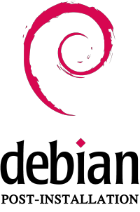 logo debian post installation